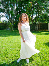 Load image into Gallery viewer, White Ruffle Maxi Dress