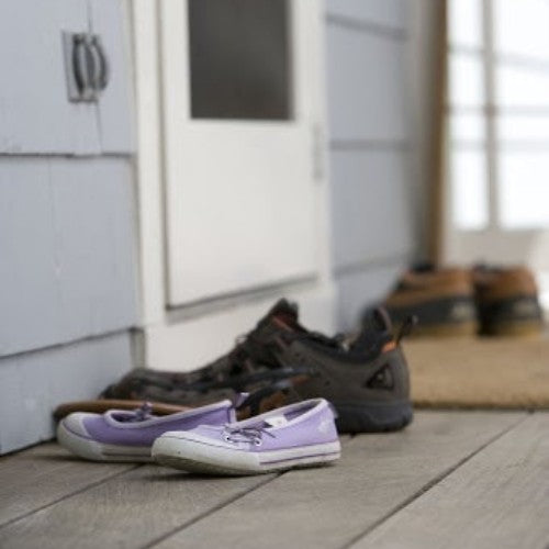 Leave shoes outside to avoid tracking toxins into your home