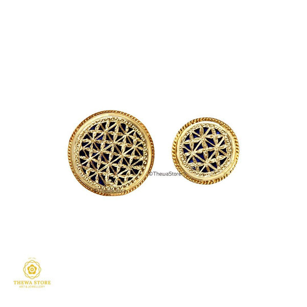 Jodhpuri Thewa Jewelry Checks Suit Buttons - ThewaStore