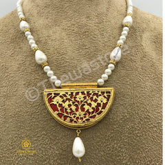 Thewa Jewellery D Shape small Necklace Necklace Thewa Store1