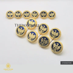Jodhpuri Thewa Jewellery Eagle Buttons - ThewaStore