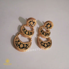 Thewa Jewellery 3 Layers Jhumkiya Earrning Earrings Thewa Store1