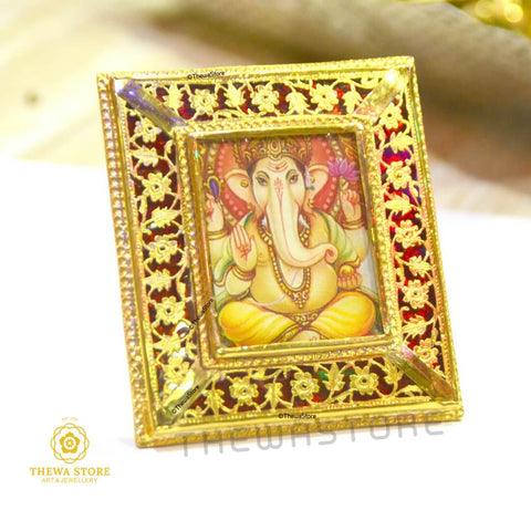 Thewa Jewellery Ganesh Ji Photo Frame Photo Frame Thewa Store1