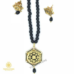 Thewa Jewellery Hexagon Shape Necklace Necklace Thewa Store1