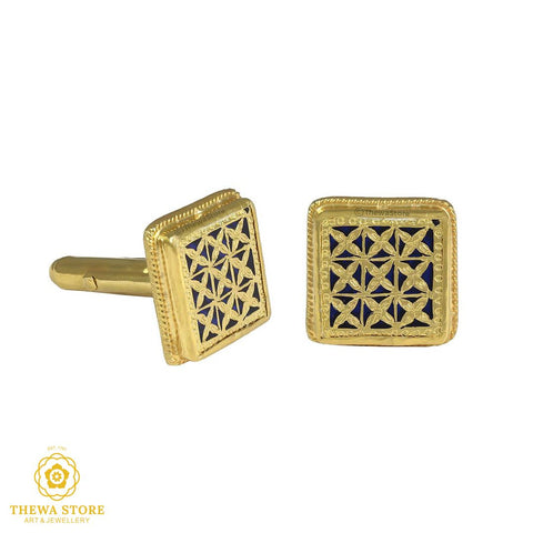 Thewa Jewellery  Square Checks  Cufflinks for Men - ThewaStore