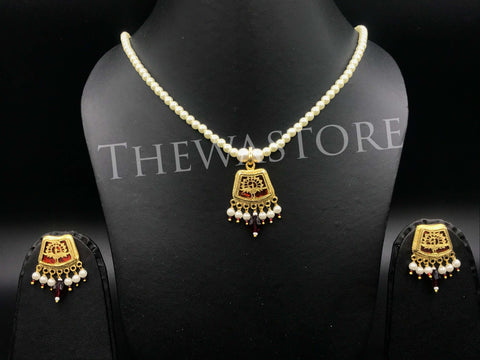 Thewa Jewellery Small Necklace Pharsa Designer Necklace Thewa Store1