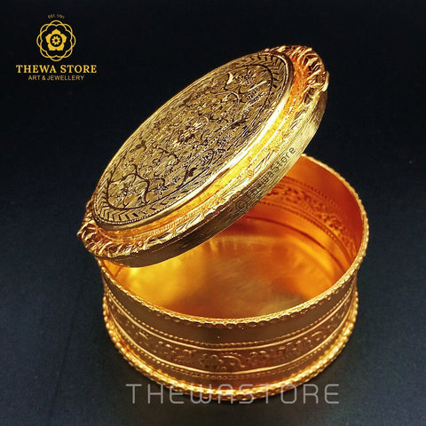 Original Thewa Art Jewellery Handmade Square  Hunting Art Box for Gift - ThewaStore