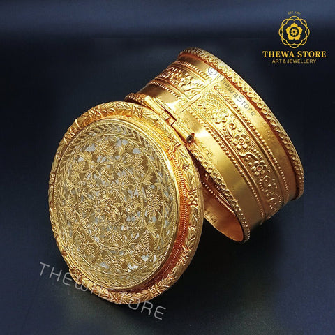 Original Thewa Art Jewellery Handmade Square Hunting Art Box for Gift Box ThewaStore