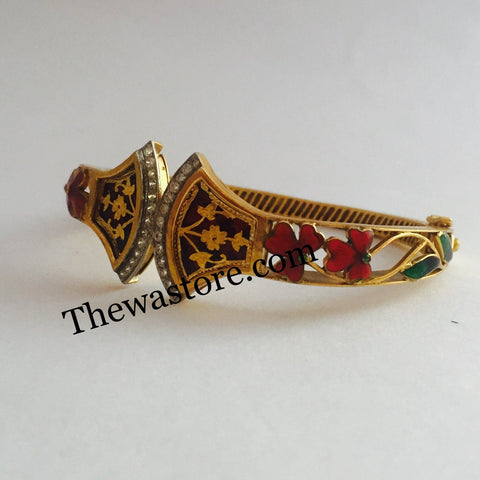 Thewa Jewellery Meenakari Bangle - ThewaStore