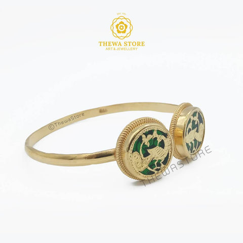 Thewa Jewellery 2 Piece Bangle cum Kada Bangle Thewa Store1