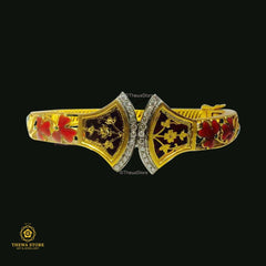 Thewa Jewellery Meenakari Bangle Bangle Thewa Store1