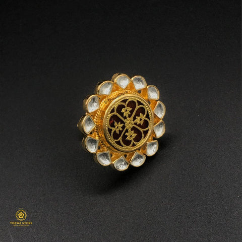 Thewa Art Kundan Ring - ThewaStore