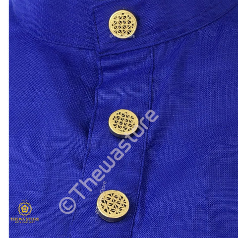 Thewa Jewellery Checks Kurta / Shirt  Buttons - ThewaStore
