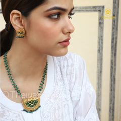 Thewa Jewellery D Shape Amogh Designer  Necklace - ThewaStore