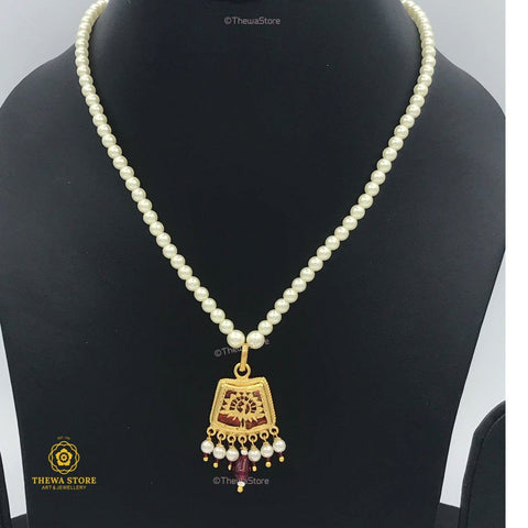 Thewa Jewellery Designer Pendant with Pearl - ThewaStore