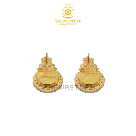 Sparsh D-Shape Thewa Art Earrings 4
