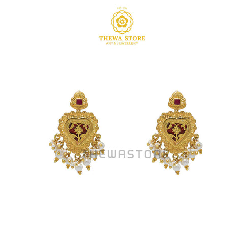 Sparsh Thewa Art Heart Earrings