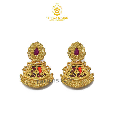 Sparsh Thewa Jewellery Pharsa Earrings - ThewaStore