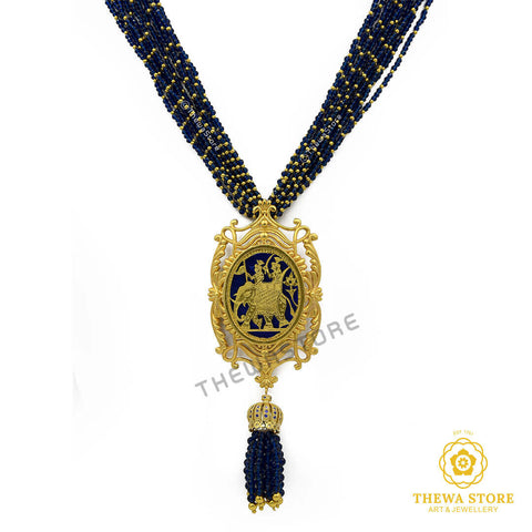 Elephant Designer Thewa Necklace