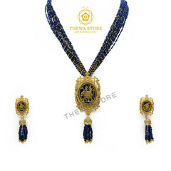 Elephant Designer Thewa Necklace with earrings