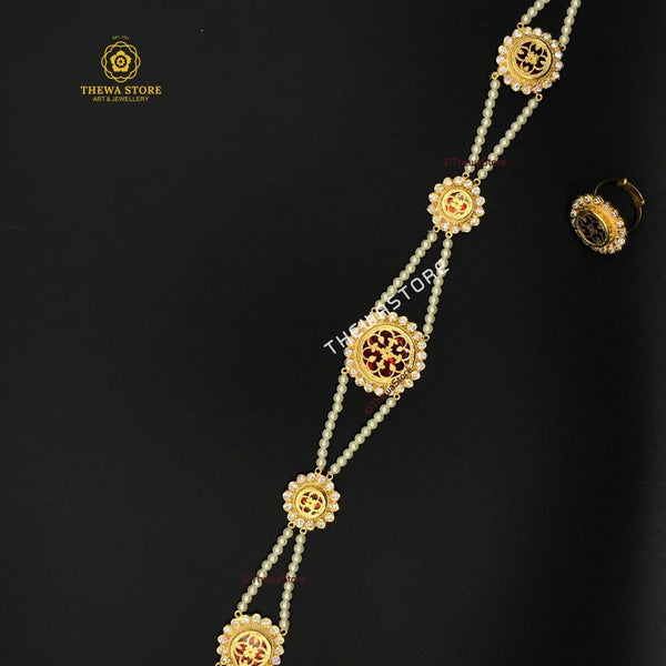 Thewa Jewellery Rajasthani Sheesh patti - ThewaStore