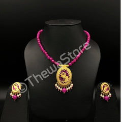 Thewa Jewellery Single Peacock oval Necklace Necklace Thewa Store1
