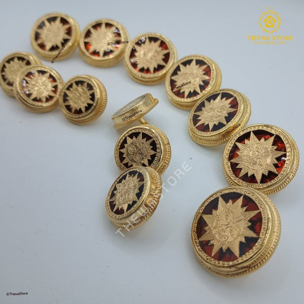 Jodhpuri Thewa Jewellery Surya Buttons for Band-gala Suits Suit Buttons Thewa Store1