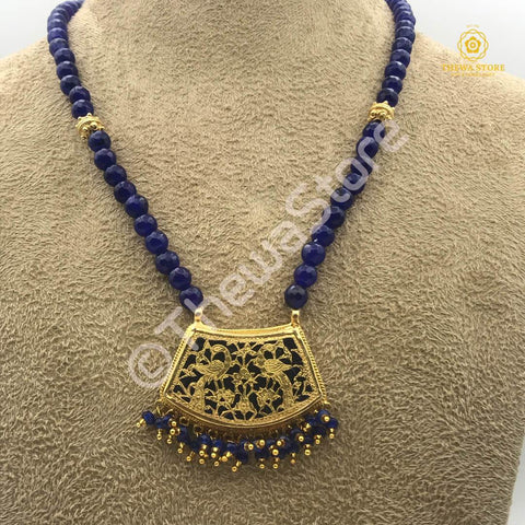 Original Thewa Jewellery  Pankhi Two Peacock Designer  Necklace - ThewaStore