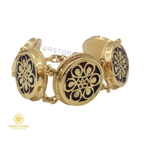 Thewa Art Jewellery 5 pieces Round Bracelet Bracelet Thewa Store1