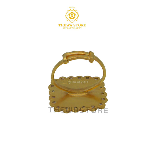 Thewa Art Sqaure Diamond Ring - ThewaStore