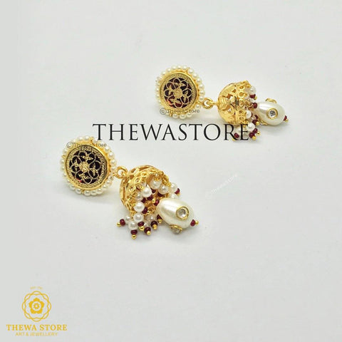 Thewa Jewellery Jhumkia Earrning Earrings earrings