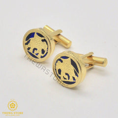 Thewa Jewellery Elephant Cufflinks for Men Cufflinks Thewa Store1