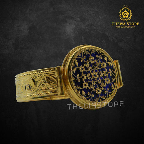 Original Thewa Art Floral Bangle /  Kada - ThewaStore