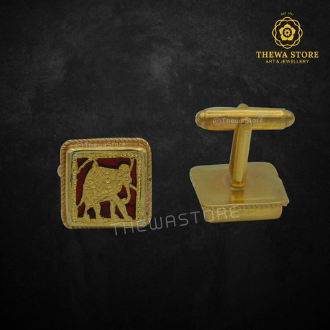 Thewa Jewellery Elephant Cufflinks for Men ( Square Shape) Cufflinks Thewa Store1