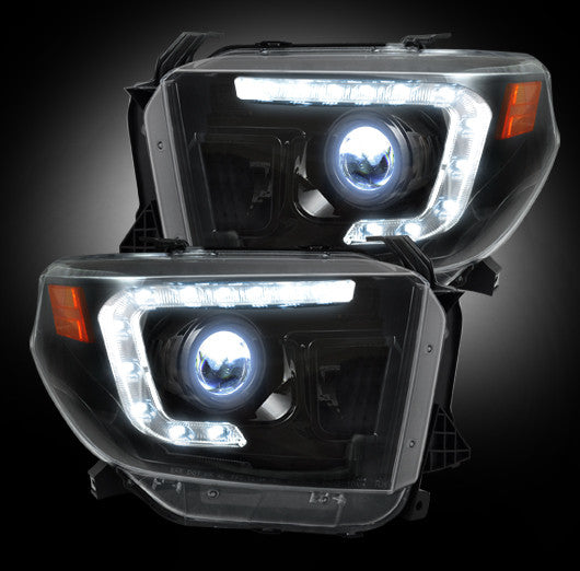 RECON 264294BKC PROJECTOR HEADLIGHTS TOYOTA TUNDRA SMOKED
