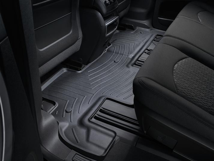WeatherTech Digital Fit Floor Liners 442511-441112 Black Front and Rear 07 08 09 10 11 12 13 14 15 16 GMC Acadia w/ 2nd Row BENCH SEATS