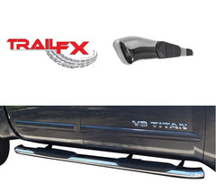 TrailFX 5 Inch Oval Bent Side Step Nerf Bars