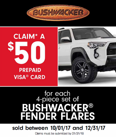 Bushwacker $50 Rebate 2017