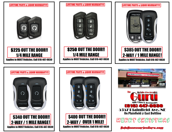 Automatic Car Remote Starters Installed Grand Rapids Christmas Special Sale Best Cheapest Lifetime Warranty