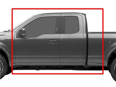 WeatherTech® 446971-446975 2015 2016 2017 Ford F-150 15 16 17 SuperCab BLACK Full Set