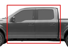 WeatherTech® 447931-446974 2015 2016 2017 Ford F-150 15 16 17 BLACK Floor Liners Mats Full Coverage Set