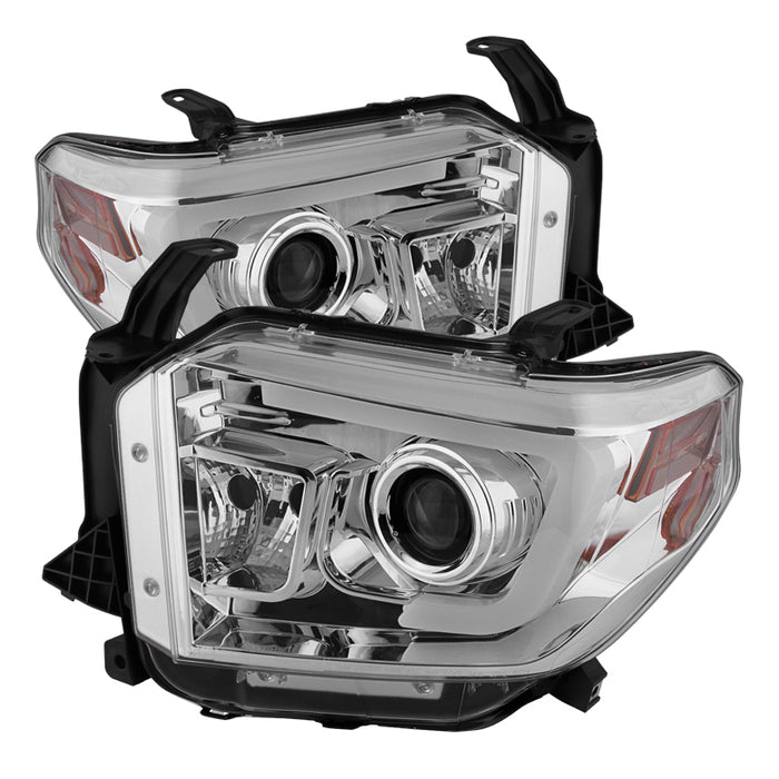 Spyder 5080141 Projector Headlights w/ LED HALO 2014 2015 2016 Toyota Tundra