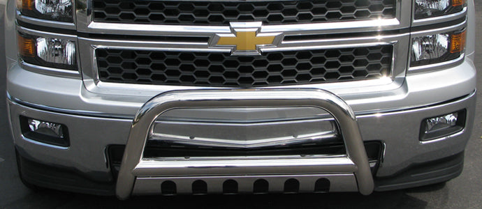 TrailFX B0033S Stainless Steel Bull Bar 07 08 09 10 11 12 13 14 15 16 17 18 Chevy Silverado 1500 GMC Sierra 1500