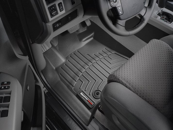 WeatherTech® 444081-440939 Toyota Tundra Double Cab 14 15 16 17 18 BLACK Digital Fit Floor Liners