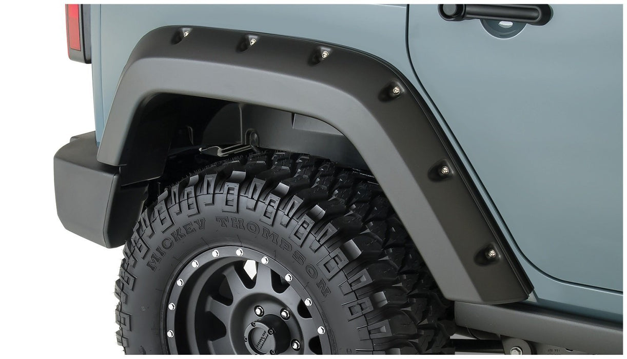 Bushwacker 10080-02 Pocket Style Fender Flares Rear 4 Door Jeep Wrangler JK 07-17