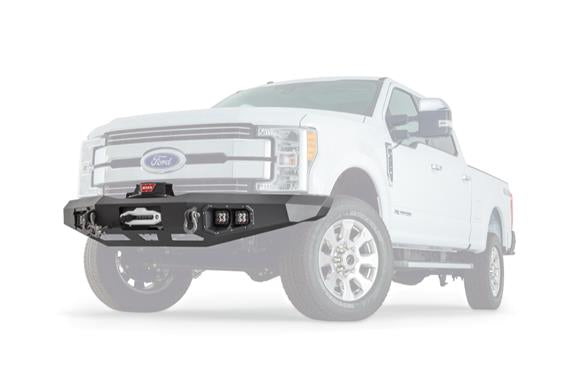 WARN 100918 Ascent Front Winch Bumper 17-19 Ford Super Duty