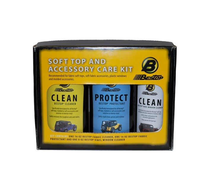 Bestop-11205-00-Bestop Fabric Care Kit - Cleaner, Protectant, Vinyl Window Cleaner All Together In One Kit Retail Packaged Bestop-AutoAccessoriesGuru.com