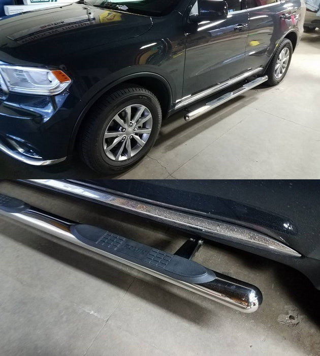 Romik 11381438 Side Steps 11-19 Dodge Durango Stainless Steel Max Bar