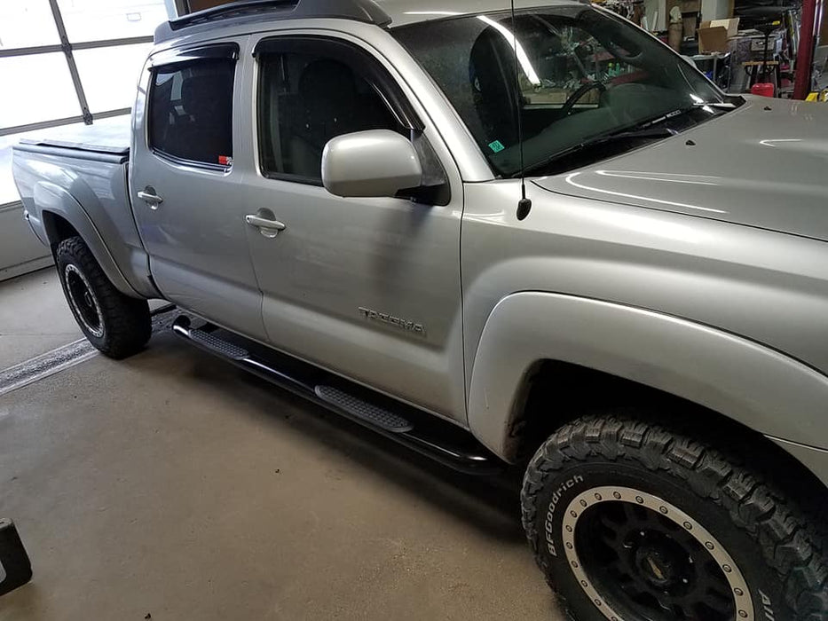 "Toyota Tacoma CREW Cab 05-19 BLACK 3"" Step Bars TrailFX 1150522053"