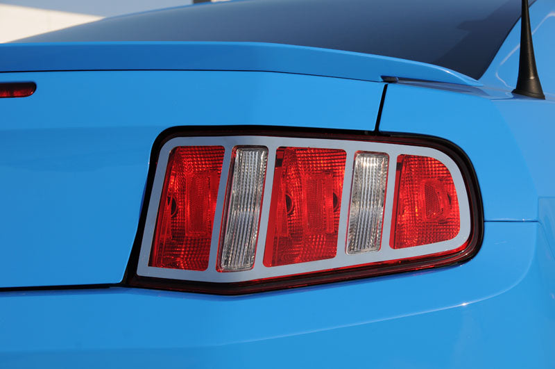T-REX Grilles-12518-Mustang Tail Light Trim 10-12 Ford Mustang Stainless Polished 2 Piece T1 Series T-REX Grilles-AutoAccessoriesGuru.com